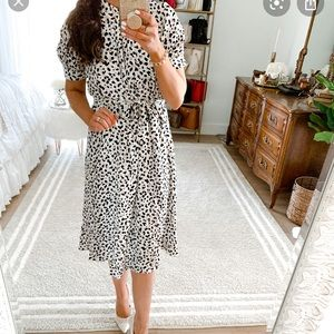 NWT Ann Taylor Leopard Midi Dress 8